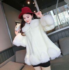女性冬フェイクファーコート高級模造北極キツネロングコートファッション高貴なフェイクファーのコート厚い快適な暖かい生き抜く