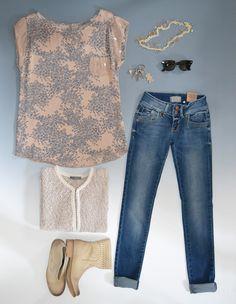 giacca #bonita top #dablusa jeans #LTB200