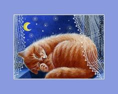 Ginger-Cat-ACEO-Crescent-Moon-an-original-by-I-Garmashova