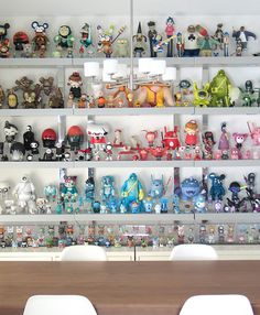 Fabulous toy collection -- love the color grouping for an overall effect.