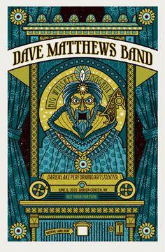 Dave Matthews Band Poster 10 Darien Lake NY 400 RARE | eBay