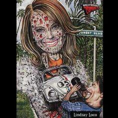 Linsay Lohan #Zombie