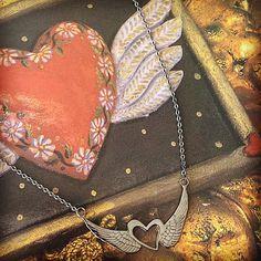 Heart wings necklace. By Soulu Atelier #souluatelier #jewelry