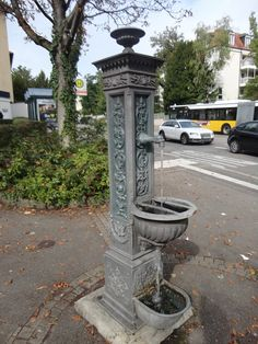 This is an nice old drinking fountain. It is located at the intersection of 'Herdweg' and 'Hölderlinstraße' in Stuttgart Germany, Baden-Württemberg.
