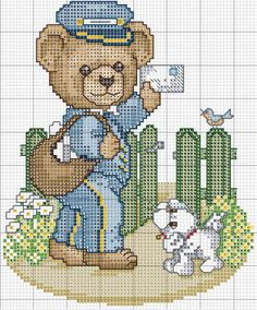 Solo Patrones Punto Cruz (pág. 2202)   Aprender manualidades es facilisimo.com Cross Stitch Designs, Cross Stitch Patterns, Cross Stitching, Cross Stitch Embroidery, Everything Cross Stitch, Stitch And Angel, Cross Stitch For Kids, Puppies And Kitties, Crochet Bear
