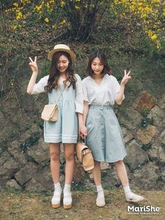 The post Marish ♥ Fashion Trendbook! Korean Street Fashion, Korea Fashion, Asian Fashion, Look Fashion, Girl Fashion, Fashion Outfits, Womens Fashion, Fashion Design, Matching Outfits Best Friend
