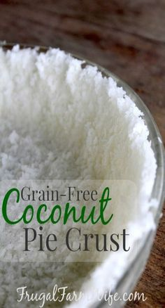 Coconut Pie Crust. Two ingredients! The most unconventional pie crust I've ever made, but for many pudding pies, and no-bake strawberry cheesecake (a recipe that I can't wait to share!), it lends a delightfully coconutty flavor and texture.