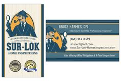Home inspection inspector business card business card inspector you are here home blog business cards logos sur lok home inspections colourmoves
