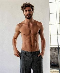 nice lean and muscular topless man, with a beard and mustache, smoking a cigarette, haircuts for men with curly hair, dark gray tweed trousers CONTINUE READING Shared by: archzinecom Short Curly Hair, Curly Hair Styles, Guys With Curly Hair, Hot Guys, Sexy Guys, Haircuts For Men, Haircut Men, Men Curly Hairstyles, Men Hair Styles