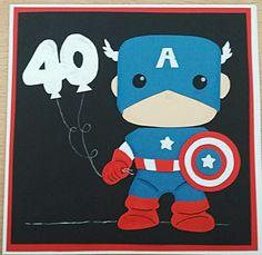 Captain America 40th Birthday Card