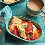 Country Ham and Gouda Grit Cakes with Tomato Gravy Recipe | MyRecipes.com
