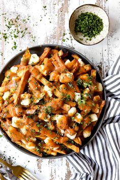 Poutine - Carlsbad Cravings Cooking French Fries, Crispy French Fries, Canadian Poutine, Canadian Dishes, Canadian Cuisine, Poutine Recipe, Homemade Bolognese, Best Lasagna Recipe, Carlsbad Cravings