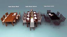 Table Cutlery Tableware 3D Model - 3D Model