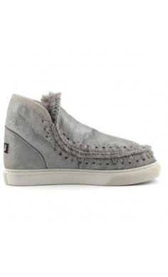Mou Boots Mini Eskimo Sneaker Women Rock Metallic #mou #boots #eskimo
