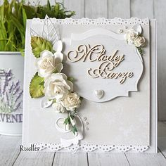 love, life and crafts Rudlis: Bardzo skromnie Wedding Scrapbook, Scrapbook Cards, Scrapbooking, Wedding Anniversary Cards, Wedding Cards, Wedding Invitations, Mixed Media Cards, Homemade Greeting Cards, Engagement Cards