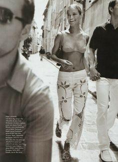 US Vogue july 1999 Carolyn Murphy by Mario Testino and Carine Roitfeld