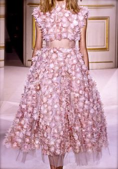 Giambattista Valli Haute Couture Spring/Summer 2013 Pink Flower Dress