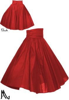 Ruched Waist 1950s Circle Skirt By Amber Middaugh Standard Size $39.95 Plus Size $45.95