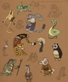 Sketchesss by Zhucha on DeviantArt Dreamworks Animation, Disney And Dreamworks, Po Kung Fu Panda, Dragon Warrior, Watercolor Painting Techniques, Big Hero 6, Concept Art, Art Drawings, Dog Cat
