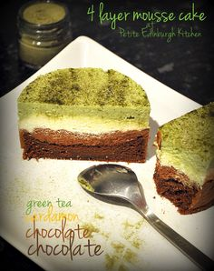 my mini chocolate mousse cake with green tea