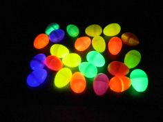 Add glow sticks to easter eggs for a glow-in-the-dark easter egg hunt your kids won't forget!