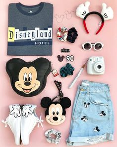 Take me back to Hotel 💙 . If you haven't noticed, my last 4 flat lays were featuring all of my favorite tees from Disneyland… Cute Disney Outfits, Disney World Outfits, Disney Themed Outfits, Disneyland Outfits, Cute Outfits, Disney Clothes, Teen Fashion Outfits, Outfits For Teens, Girl Outfits