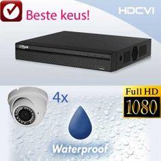 HDCVI set compleet 4x 1080p full hd cvi bewakingscamera's en Dahua recorder