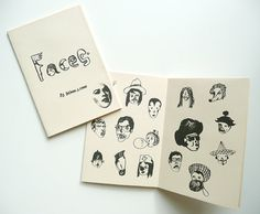 Hand printed zine FACES handmade zine by BelsArt on Etsy