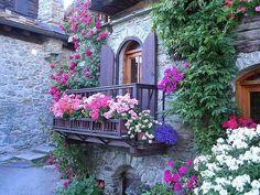Balcon en fleurs