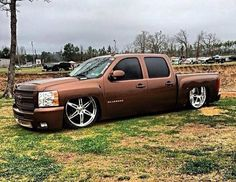 Loving the Brown on this Bagged Trucks, Lowered Trucks, Dually Trucks, Mini Trucks, Gm Trucks, Cool Trucks, Pickup Trucks, Cool Cars, Silverado Nation