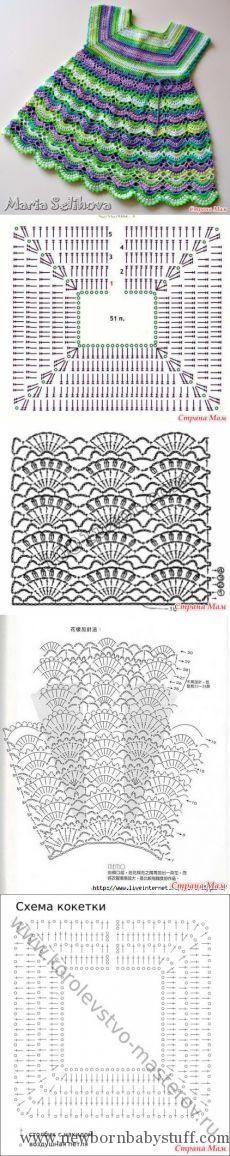 Crochet Baby Dress Нужна схема к платью - Вязание - Страна Мам...