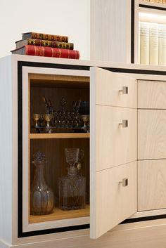 door to look like drawers, black detail