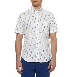 Gitman VintagePin-Up Print Short-Sleeved Cotton Shirt|MR PORTER