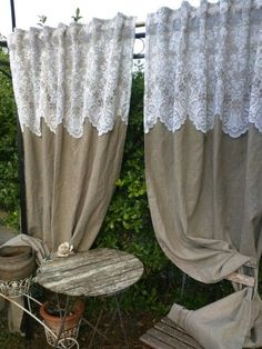 Creative and Affordable Cool Tips: Short Curtains No Sew Vintage Curtains . curtain rods Creative and Affordable Cool Tips: Short Curtains No Sew Vintage Curtains . Short Curtains, Drop Cloth Curtains, Burlap Curtains, Drapes Curtains, Country Curtains, Curtains Living, Bedroom Curtains, Beige Curtains, Purple Curtains
