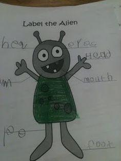 Label the Alien