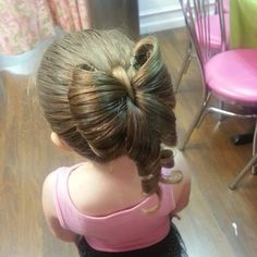 Hair Bow. Up-do. Cute kid hairstyles.