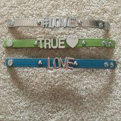 BCBG Generation Leather Bracelets set of 3 Set of 3 BCBG Generation Leather Bracelets . Snap closure used gently . Great condition . BCBGeneration Jewelry Bracelets