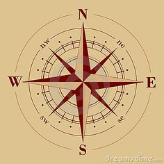 Antique Compass Rose Compass rose