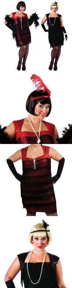 Halloween Costumes Women: Plus Size Flapper Costume Adult Halloween Fancy Dress -> BUY IT NOW ONLY: $31.19 on eBay!