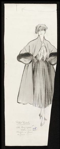 Fashion drawing | Fromenti, Marcel, Peter Russell ensemble | V&A Search the Collections