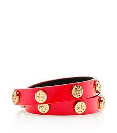 Patent Double Wrap Logo Stud Bracelet