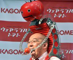 shoulder mounted, tomato dispensing robot. Oh Japan.