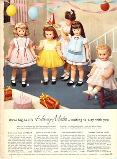 These are the Honey-Mates dolls, Sears catalogue 1959