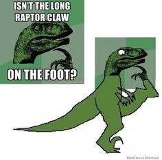Philosoraptor the contortionist.