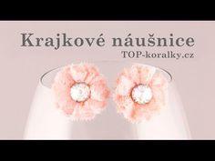 Krajkové náušnice s Rivoli Swarovski NÁUŠNICE Z KRAJKY S RIVOLI SWAROVSKI - Top-koralky.cz