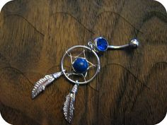 Sapphire -- Dream Catcher Belly Button Ring