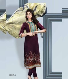 Dhanak Embroidered Lawn Collection ST_2002_A