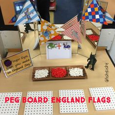 Peg board flags