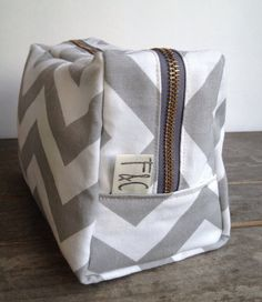 Bridesmaid Gift Chevron Toiletry Bag Chevron by frankieandcocopdx