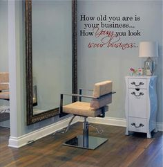Large Salon DecalYoung is Our business 20H by VinylDesignCreations, $19.99